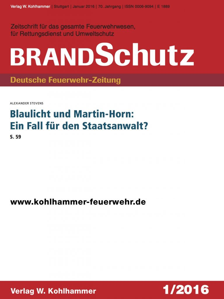 Blaulicht-Brandschutz   Dr. Alexander Stevens Strafverteidiger München   Anwalt für Strafrecht München   Fachanwalt für Strafrecht München