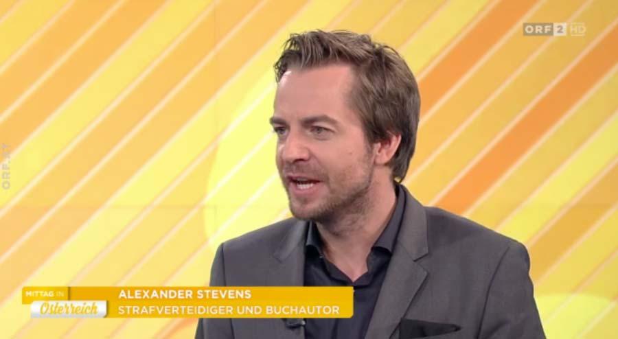 Dr.Stevens beim ORF - Sexualstrafrechts- Anwalt für Strafrecht Rechtsanwalt + Fachanwalt